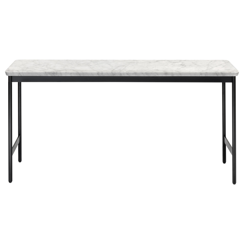 Arflex Capilano 96cm Small Table in White Carrara Marble Top by Luca Nichetto