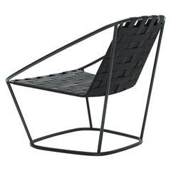 Arflex Cloud Armchair in Black Straps by Carlo Colombo