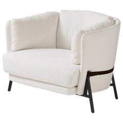 "Arflex Cradle ""Love Cushion"" Armchair in White Cherie Fabric by Neri & Hu"