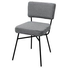 Arflex Elettra Chair in Gamma Fabric with Black Metal Base by B.B.P.R