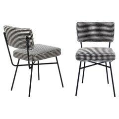 Arflex Elettra Chair in Vega Fabric with Black Metal Base by B.B.P.R
