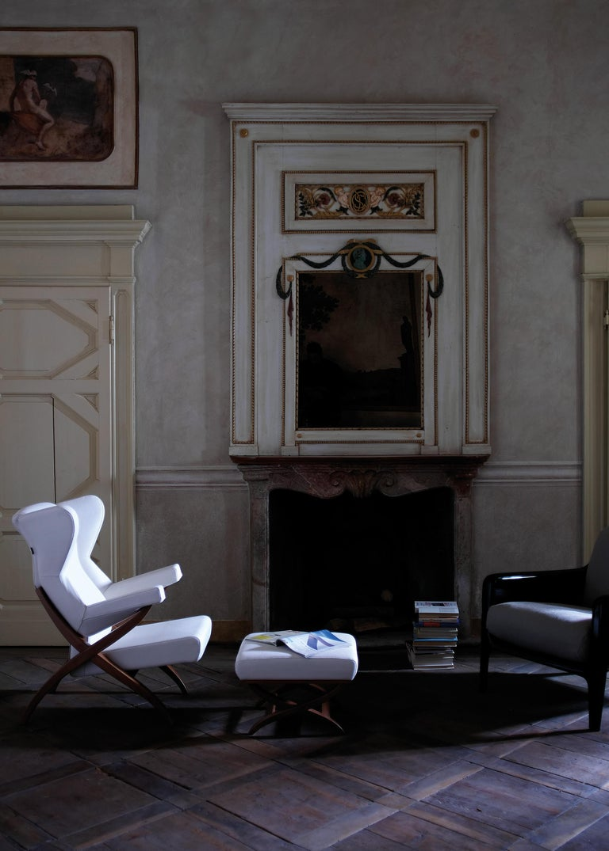 Arflex Fiorenza Armchair in Steelcut Blue Fabric & Black Frame by Franco Albini For Sale 4