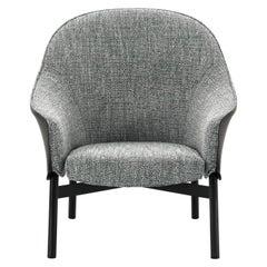 Arflex Gloria Armchair High Backrest in Grey Fabric by Claesson Koivisto Rune