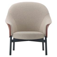 Arflex Gloria Armchair High Backrest in Leather Fabric by Claesson Koivisto Rune