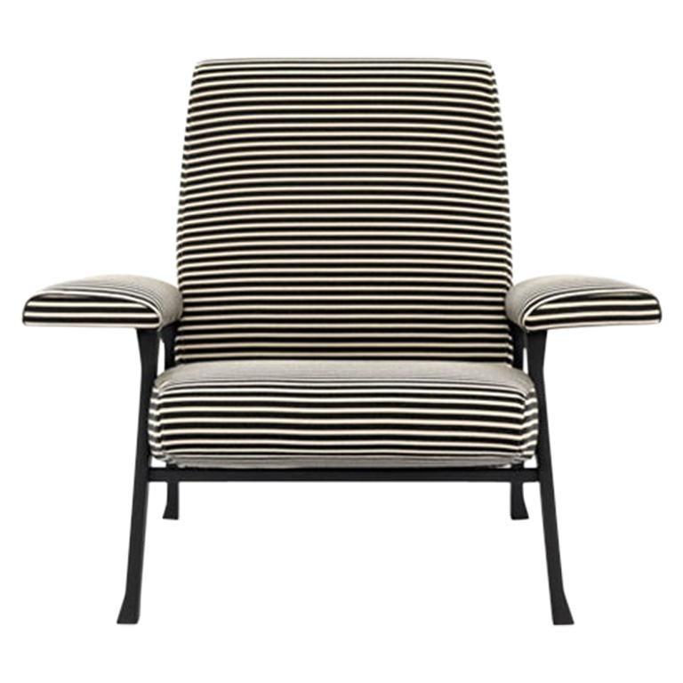 Arflex Hall Armchair in Fabric Riga by Roberto Menghi