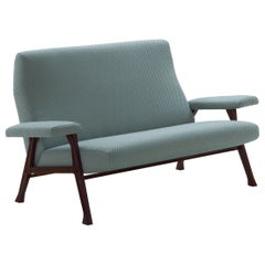 Arflex Hall Sofa in Barre Fabric and Wood Legs by Roberto Menghi