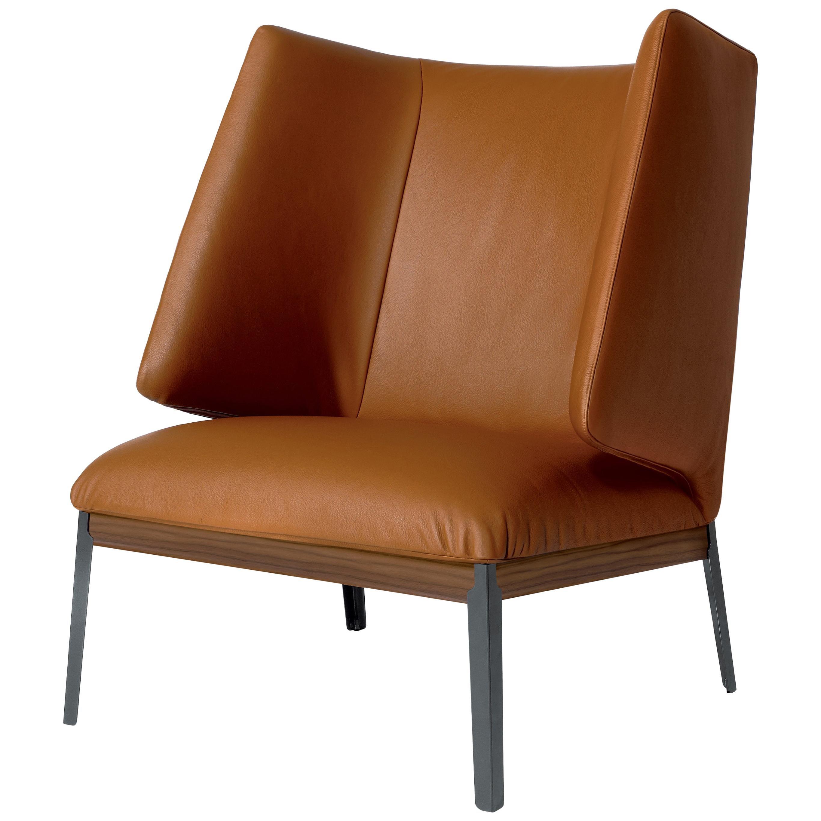 Arflex Hug Armchair High Backrest in Giada Leather by Claesson Koivisto Rune
