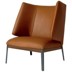 Arflex Hug Armchair High Backrest in Giada Leather by Claesson Koivisto Rune