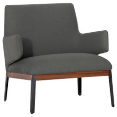 Arflex Hug Armchair with Low Backrest in Grey Fabric by Claesson Koivisto Rune