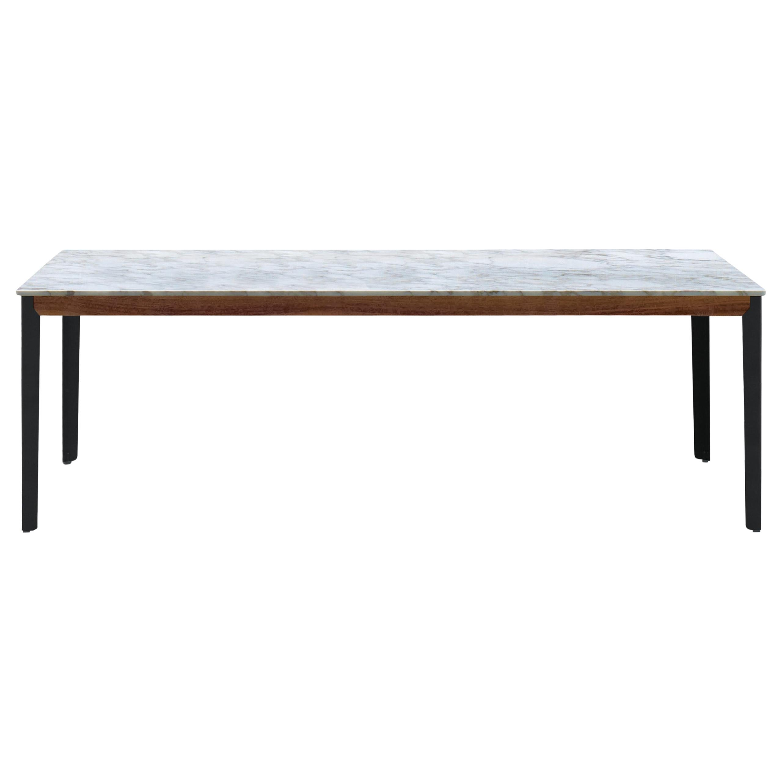 Arflex Hug Table in Carrara Marble Top with Metal Base by Claesson Koivisto Rune