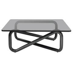 Arflex Infinity 105x105 Small Table in Fume Glass by Claesson Koivisto Rune