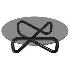Arflex Infinity 130cm Small Table in Fume Glass by Claesson Koivisto Rune