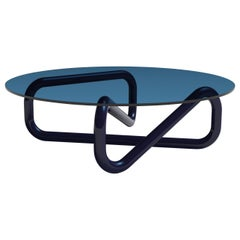 Arflex Infinity 130cm  Small Table in Light Blue Glass by Claesson Koivisto Rune