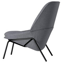 Arflex Ladle Armchair with Low Backrest & Fabric and Metal Base by Luca Nichetto