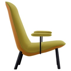Arflex Leafo Armchair in Hero Fabric with Black Stained Wood Base by Jaime Hayon