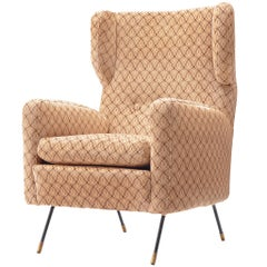 Arflex Lounge Chair in Patterned Fabric Upholstery