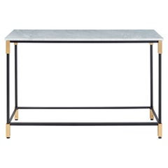 Arflex Match Console Table with Marble Top & Metal Legs by Bernhardt & Vella