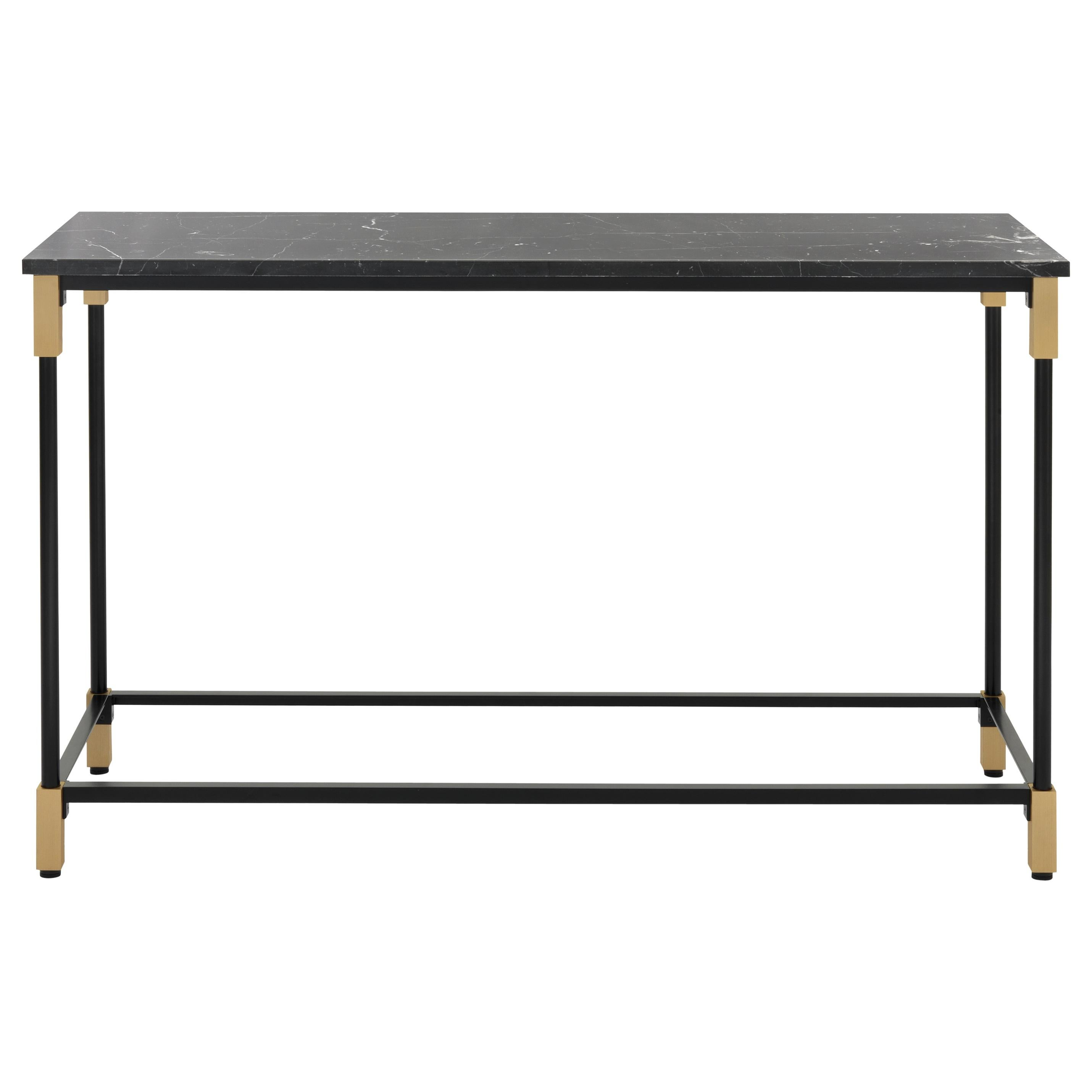 Arflex Match Console Table with Marquinia Marble Top by Bernhardt & Vella
