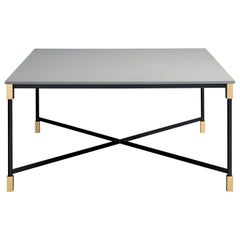 Arflex Match Small Table in Quarzite Silver Marble by Bernhardt & Vella