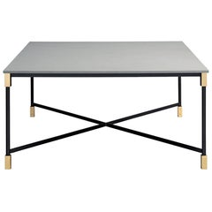 Arflex Match Table w/ Burnished Finish Top by Bernhardt & Vella