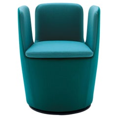 Arflex Mojo Armchair in Aqua Green Fabric Swivel Base by Claesson Koivisto Rune
