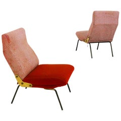 Arflex Pair of Delfino Armchair by Erberto Carboni, Original Label, 1950s