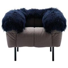 Arflex Pecorelle Armchair w/ Fur by Cini Boeri
