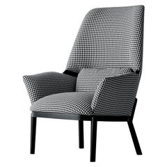 Arflex Serena Armchair in Gamma Fabric with Wenge Stained Legs by Luca Nichetto