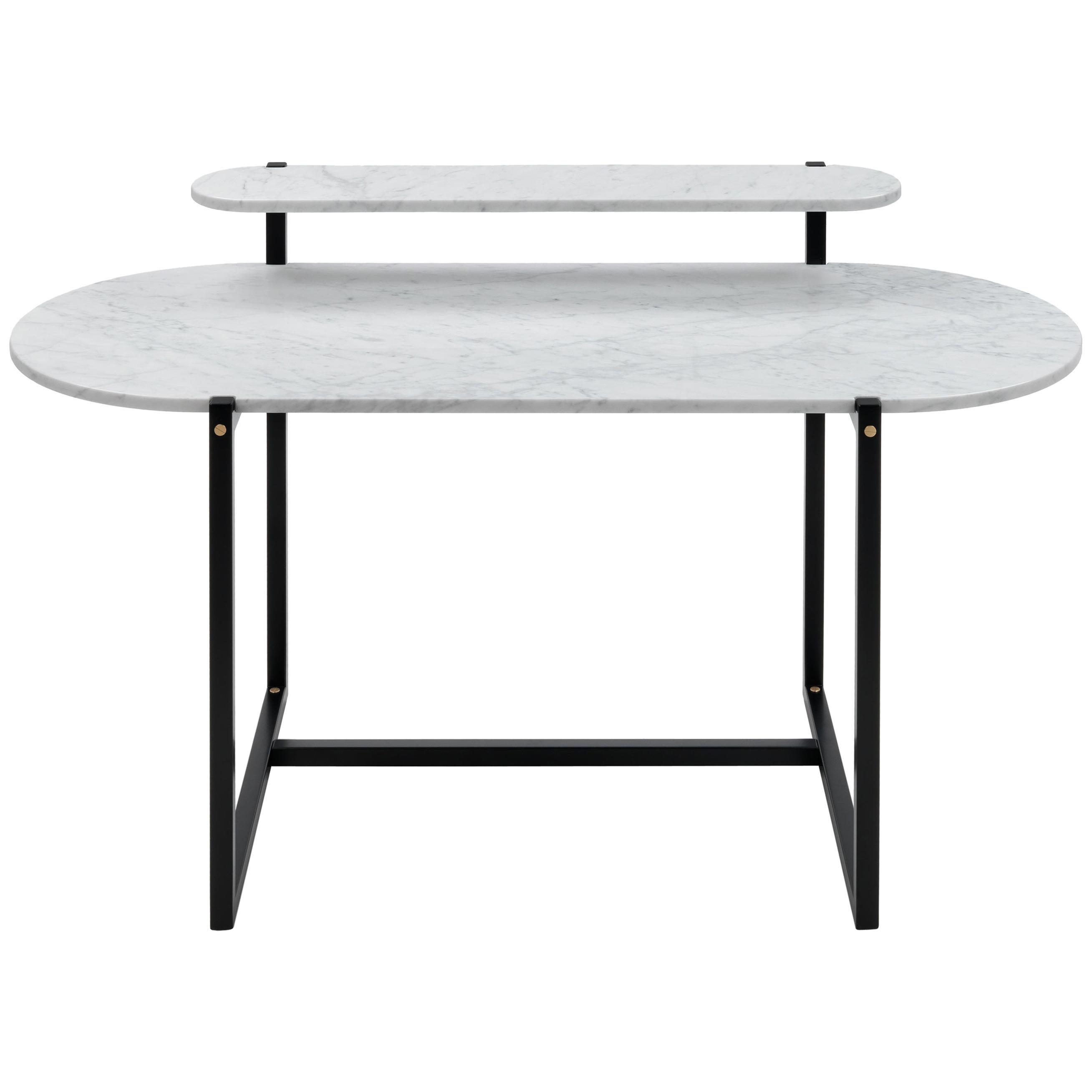 Arflex Sigmund Writing Desk in White Carrara Top with Metal Base by Studio Asai