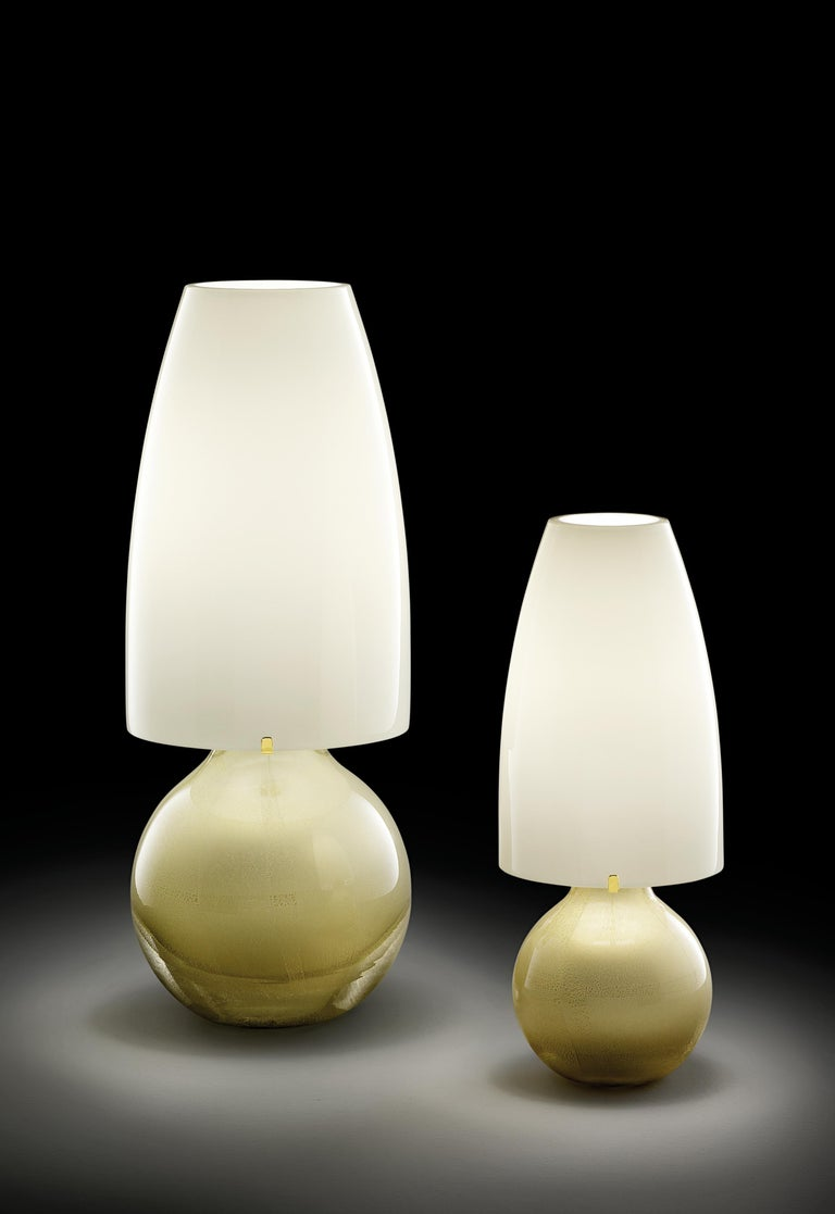Modern Argea Large Table Lamp in Gold by Venini For Sale