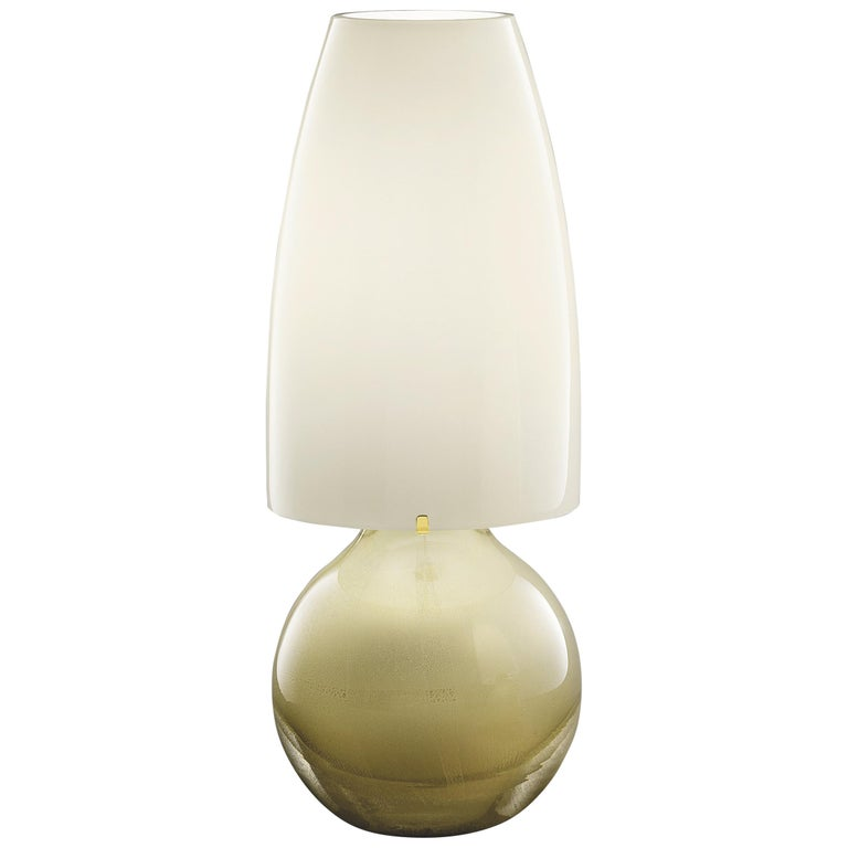 Argea Large Table Lamp in Gold by Venini For Sale