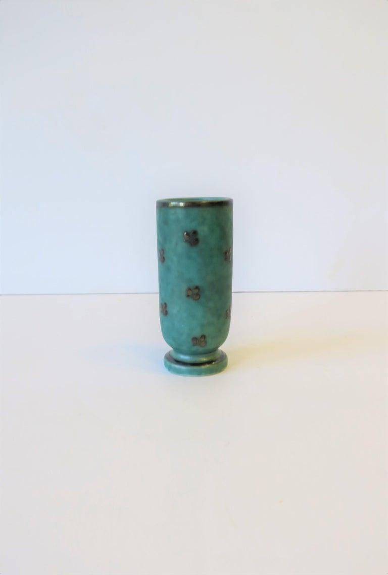 Scandinavian Modern Argenta Swedish Pottery Vase