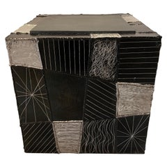 Argente Cube Side Table by Paul Evans for Directional, Late 1960s