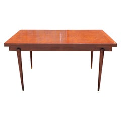 French Oak Parquet Top Draw Leaf Table At 1stdibs