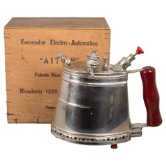 Argentinian Wax Steamer and Original Box, circa 1950