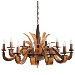 Argo Brown and Amber Chandelier Ten Lights