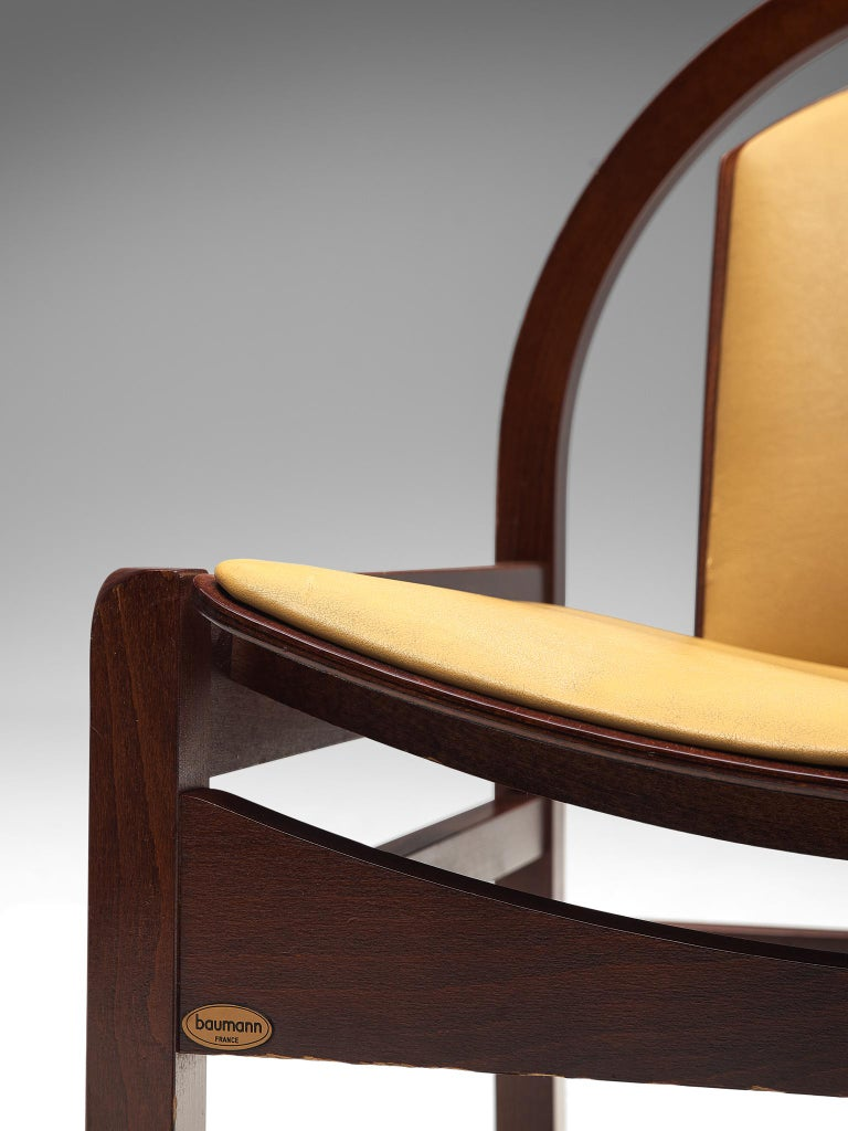 'Argos' Lounge Chairs by Baumann in Beech and Leather For Sale 4