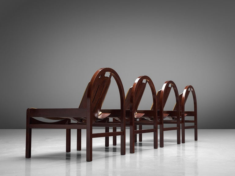 'Argos' Lounge Chairs by Baumann in Beech and Leather For Sale 10