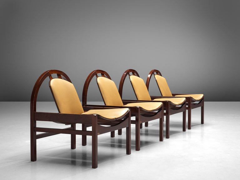'Argos' Lounge Chairs by Baumann in Beech and Leather For Sale 11
