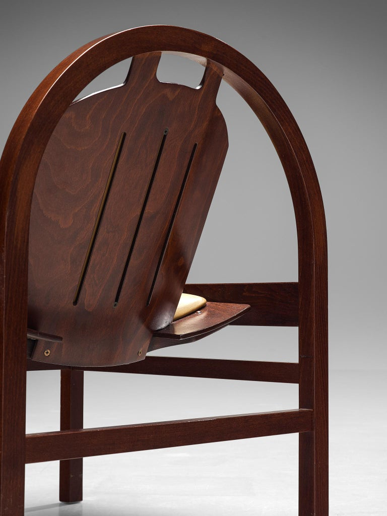 French 'Argos' Lounge Chairs by Baumann in Beech and Leather For Sale