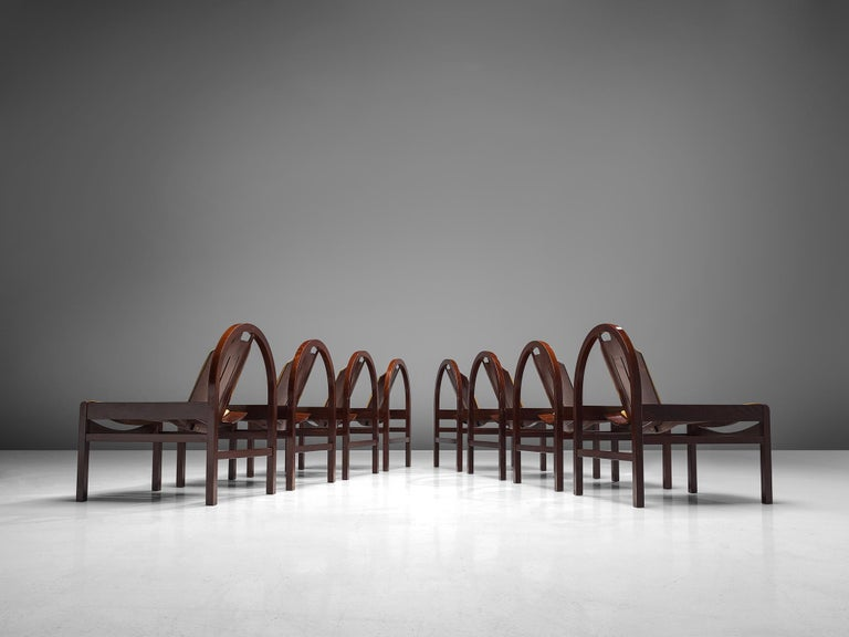 'Argos' Lounge Chairs by Baumann in Beech and Leather In Good Condition For Sale In Waalwijk, NL