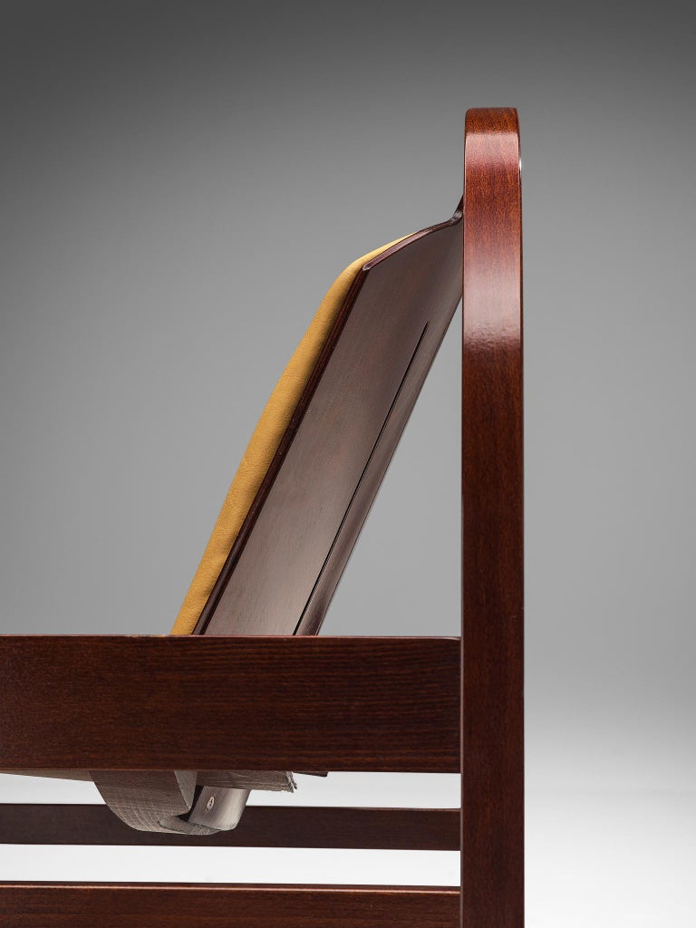 'Argos' Lounge Chairs by Baumann in Beech and Leather For Sale 1