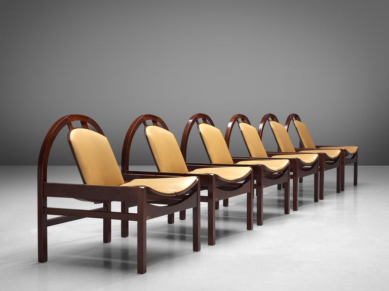 'Argos' Lounge Chairs by Baumann in Beech and Leather For Sale 2