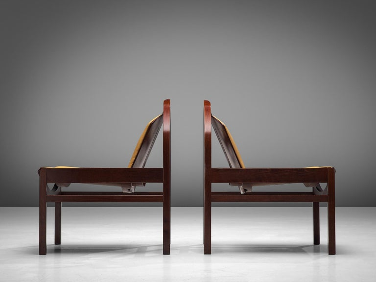 'Argos' Lounge Chairs by Baumann in Beech and Leather For Sale 3