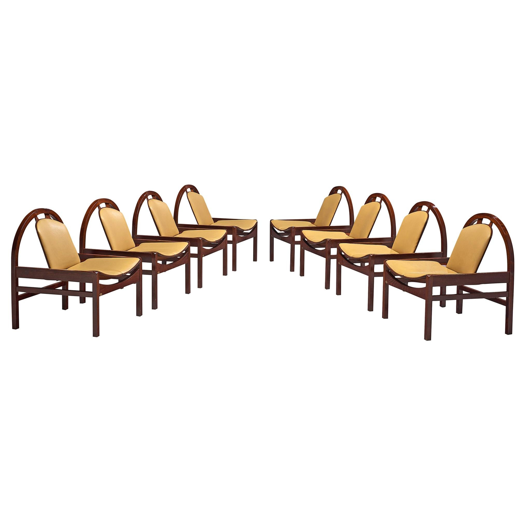 'Argos' Lounge Chairs by Baumann in Beech and Leather