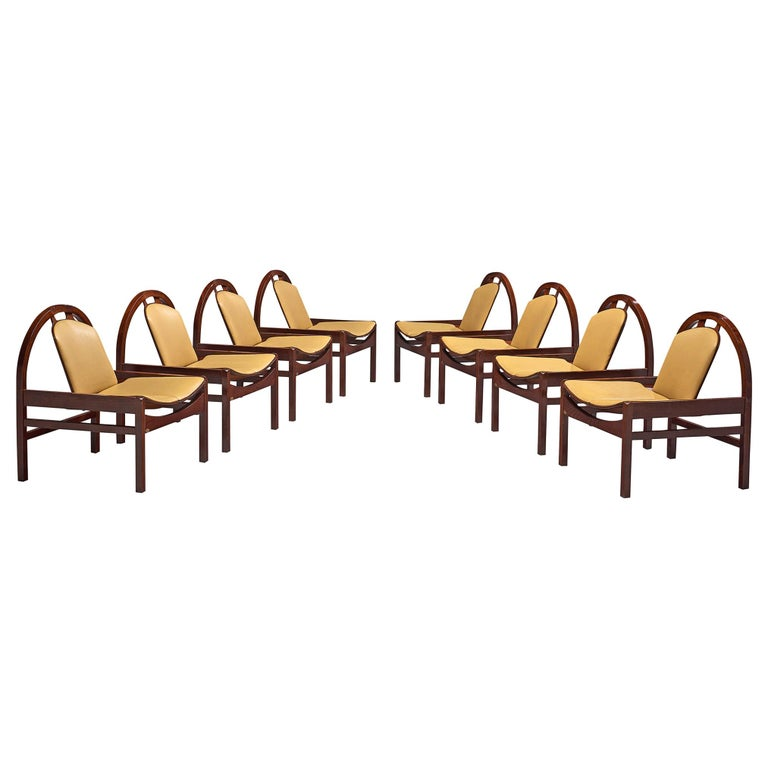 'Argos' Lounge Chairs by Baumann in Beech and Leather For Sale