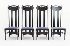 "Argyle Chairs, 1897 by Charles Rennie Mackintosch for Cassina ""I Maestri"""