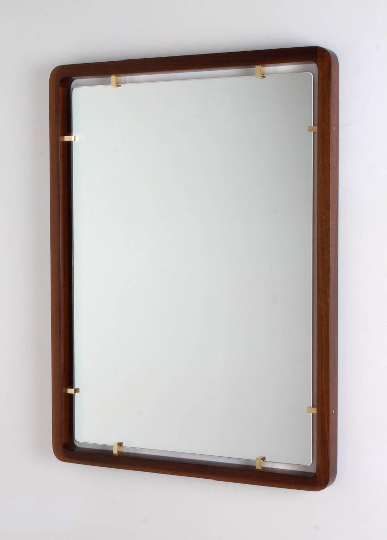 Brass Argyle Mirror by Orange Furniture For Sale