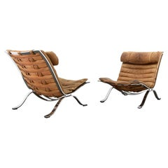 Ari Chairs Arne Norell Cognac Tan Leather