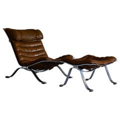 """""""Ari"""" Lounge Chair and Ottoman by Arne Norell"""
